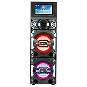 "QFX 12"" Karaoke Speaker with 11.6"" Wi-Fi Touch LED Screen, Bluetooth, and 7 Band Equalizer"
