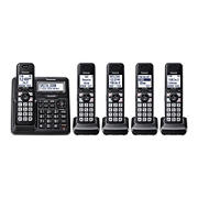 Panasonic DECT 6.0 5-Handset Cordless Phone with Talking Caller ID, Advanced Call Block System and Answering System