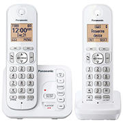 Panasonic DECT 6.0 2-Handset Cordless Phone with Call Block and Answering System