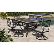 Berkley Jensen Cape May 7PC Aluminum Dining Set with Swivel Chairs