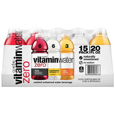 Glaceau Assorted Flavor Vitamin Water Zero, 15 pk./12 oz.