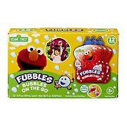 Fubbles Bubbles On the Go, 12 pk. - Sesame Street