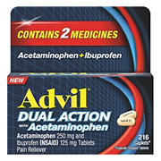 Advil Dual Action Coated Caplets, 216 ct.