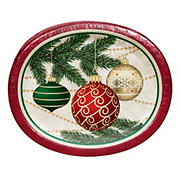 "Artstyle 'Decorate The Tree' Holiday 10""x12"" Oval Paper Plates, 35 ct."
