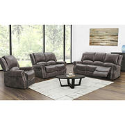 Abbyson Living Browning 3-Pc. Manual Reclining Living Room Set with White Glove Delivery