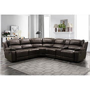 Abbyson Living Martin 6-Pc. Manual Reclining Sectional with White Glove Delivery