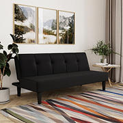 Serta Lawrence Convertible Sofa - Black