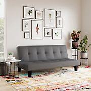 Serta Terry Convertible Sofa - Charcoal