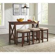 Northridge Home 4-Piece Console Table and Stool Set