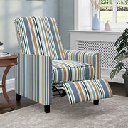 Handy Living ProLounger Pushback Recliner Chair - Caribbean Blue Multi-Stripe