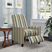 ProLounger Pushback Recliner Chair - Blue, Yellow, Green & Cream Stripe