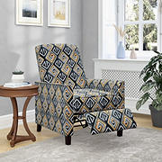 ProLounger Pushback Recliner Chair - Gold & Black Tribal Print