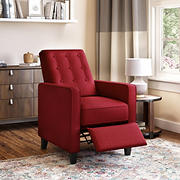 ProLounger Textured Linen Pushback Recliner - Cherry Red
