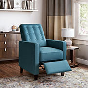 ProLounger Textured Linen Pushback Recliner - Caribbean Blue