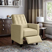 ProLounger Textured Linen Pushback Recliner - Creamy Tan Oatmeal