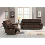 Domino 3-PC Power Reclining Living Room Set with White Glove Delivery