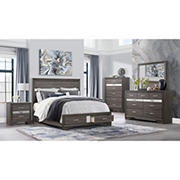 Global Furniture Seville Queen Bedroom Collection with White Glove Delivery