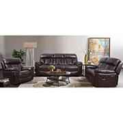 Stella 3 PC Leather Motion Sofa Set with White Glove Delivery