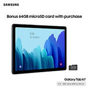 "Samsung Galaxy Tab A 10.5"" Tablet, 64GB with Bonus 64GB microSD Card"