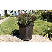 "Suncast 22"" Willow Decorative Planter"