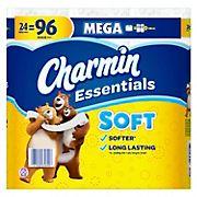 Charmin Essentials Mega Roll Soft Toilet Paper, 24 ct.