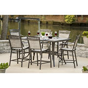 Berkley Jensen Stone Harbor 7PC Aluminum High Dining Set
