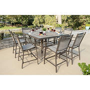 Berkley Jensen Stone Harbor 9PC Aluminum High Dining Set