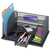 Safco Steel Three Drawer Organizer, Steel - Black