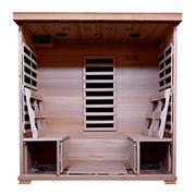 HeatWave Monticello 4-Person Hemlock Infrared Sauna with 9 Carbon Heaters
