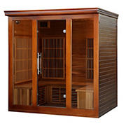 HeatWave 4-5 Person Cedar Infrared Sauna with 9 Carbon Heaters