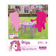 Dolu Toys Unicorn Children's Plastic Table and Chairs Set