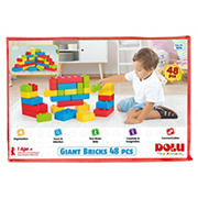 Dolu Toys GIANT 48-Pc. Building Bricks with Carrying Case