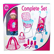 "Lissi 12"" Baby with Umbrella Stroller Playset"