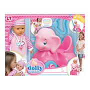 Loko Toys Sweet Baby Doll with Elephant Baby Walker Playset