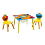 Delta Children Sesame Street Table and Chair Set with Storage