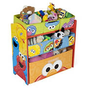 Delta Children Sesame Street 6-Bin Toy Organizer