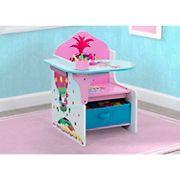 Delta Children Trolls World Tour Chair Desk with Storage Bin