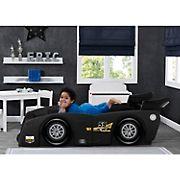 Delta Children Grand Prix Race Car Toddler Twin Bed - Black