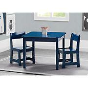 Delta Children MySize Kids Wood Table and Chair Set - Deep Blue