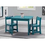 Delta Children MySize Kids Wood Table and Chair Set - Teal