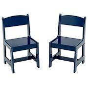 Delta Children MySize Wood Kids Playroom Chairs, 2 pk. - Deep Blue