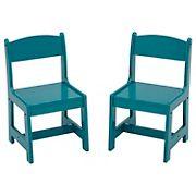 Delta Children MySize Wood Kids Playroom Chairs, 2 pk. - Teal