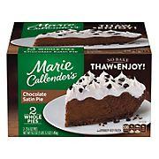 Marie Callender's Chocolate Satin Pie, 2pk