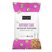 Safe and Fair Birthday Cake Drizzled Popcorn