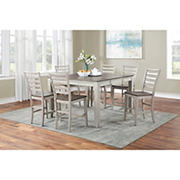 Steve Silver Abacus 7-Pc. Counter Height Dining Set with White Glove Delivery