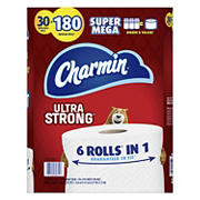 Charmin Ultra Strong Super Mega Roll Toilet Paper, 30 ct.