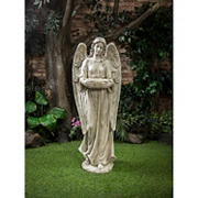 "Berkley Jensen 46"" Angel Garden Statue with Bird Bath"