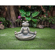 "Berkley Jensen 15"" Yoga Frog with Bird Bath"