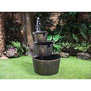 Berkley Jensen 3-Tier Whiskey Barrel Fountain