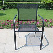 Berkley Jensen Stackable Mesh Steel Bistro Chair